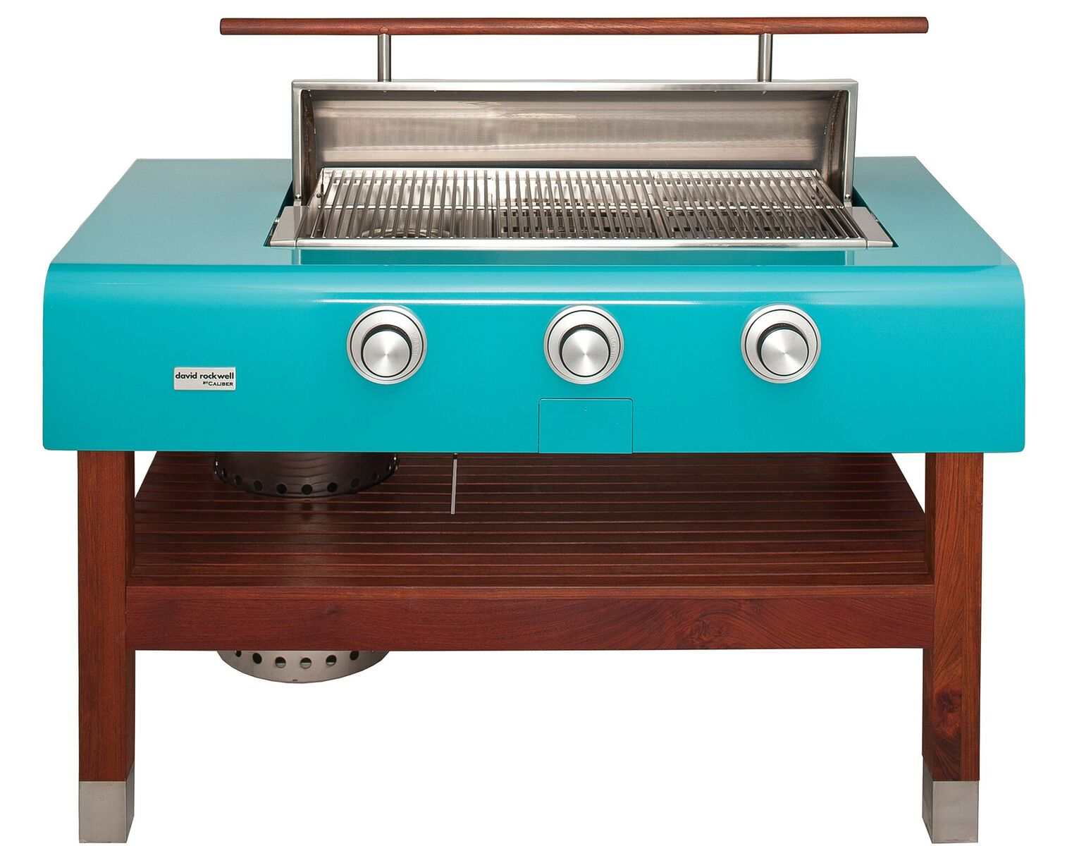 60″ Rockwell by Caliber Social Grill (freestanding wood stand)