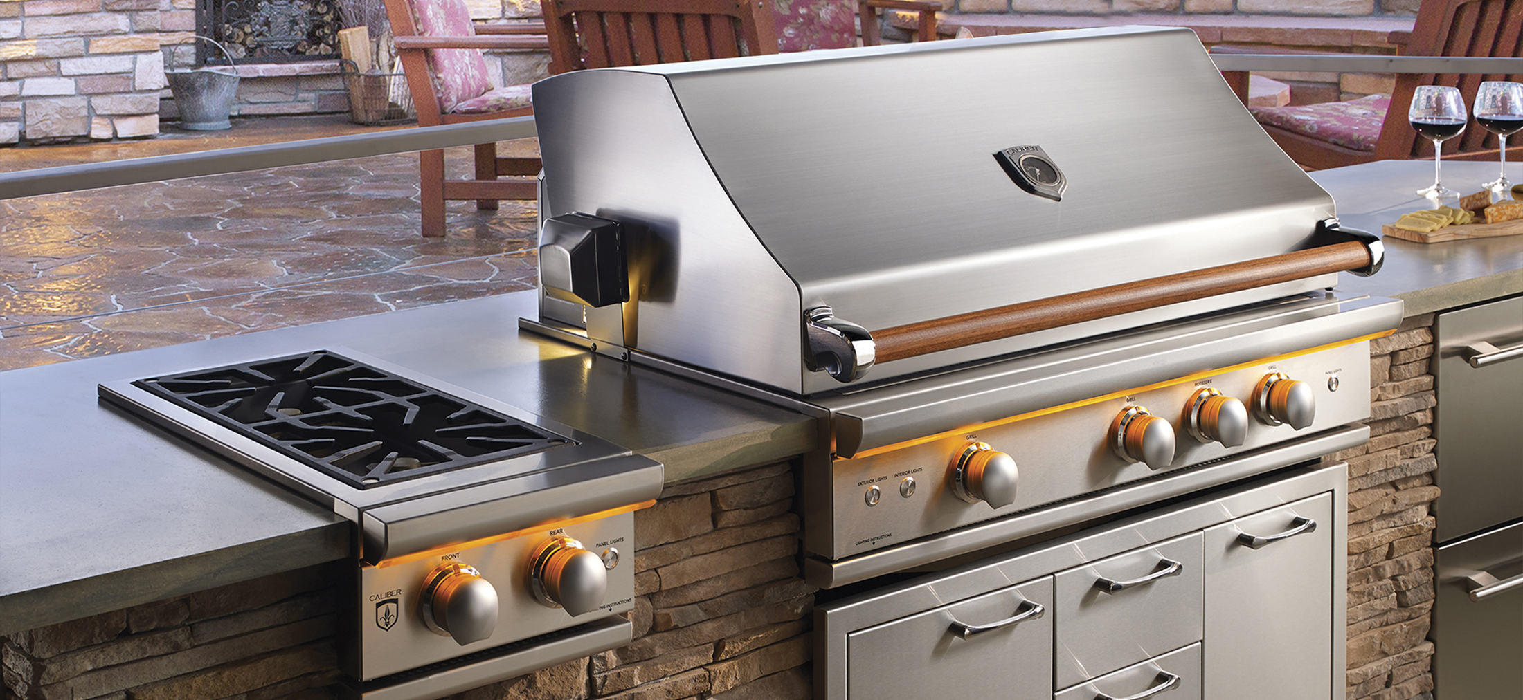 Within An Urban Bonfire Outdoor Kitchen System